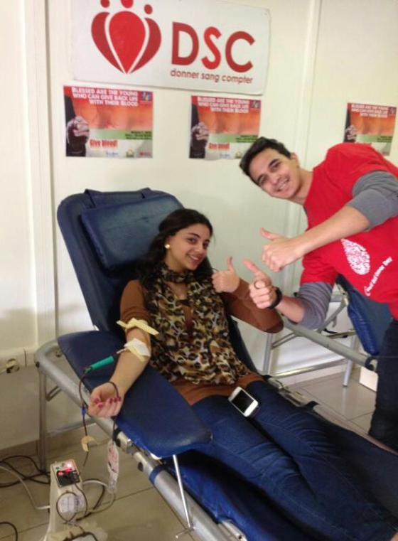 Donating at AOU